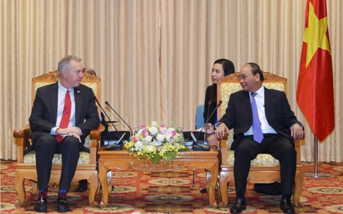 Премьер Вьетнама принял посла США во Вьетнаме в связи с завершением его срока работы - ảnh 1