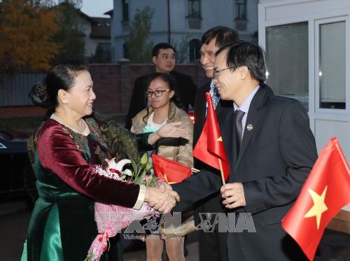 Нгуен Тхи Ким Нган встретилась с сотрудниками посольства Вьетнама в Казахстане - ảnh 1