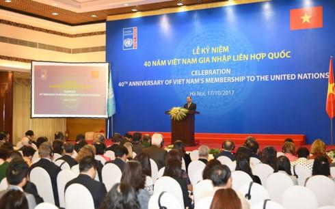 Вьетнам гордится своим 40-летним членством в ООН - ảnh 1