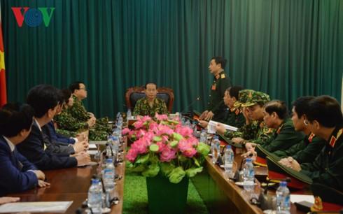 Президент Вьетнама провел рабочую встречу с руководством Минобороны - ảnh 1