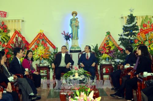 По всему Вьетнаму проходят разнообразные мероприятия по случаю Рождества - ảnh 1