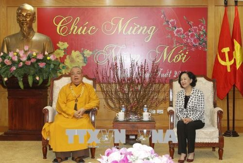 Чыонг Тхи Май: Вьетнамский буддизм всегда идёт в ногу с народом - ảnh 1