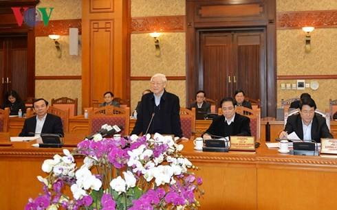 В Ханое прошло совещание Секретариата ЦК КПВ по итогам организации новогоднего праздника - ảnh 1