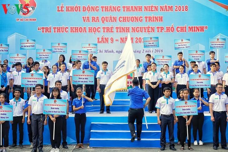 В разных районах Вьетнама проходит Месячник молодёжи 2018 года - ảnh 1