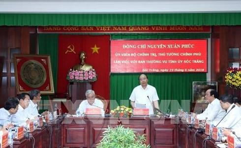 Премьер Вьетнама Нгуен Суан Фук провел рабочую встречу с руководством провинции Шокчанг - ảnh 1