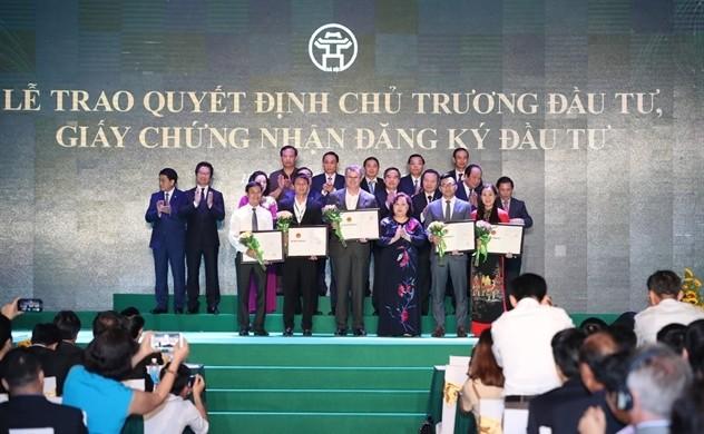 Ханой лидирует во Вьетнаме по объёму привлечённых иностранных инвестиций - ảnh 1