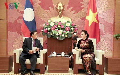 Вьетнам и Лаос активизируют сотрудничество и обмен опытом между парламентами - ảnh 1