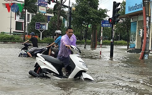 Тайфун «Шонтинь» обрушился на побержье провинций от Тханьхоа до Куангбиня - ảnh 1