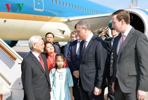 Генсек Компартии Вьетнама прибыл в Россию с официальным визитом - ảnh 2