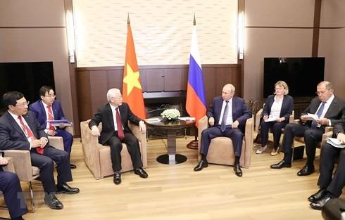 Совместное заявление по итогам официального визита генсека ЦК Компартии Вьетнама в РФ - ảnh 2