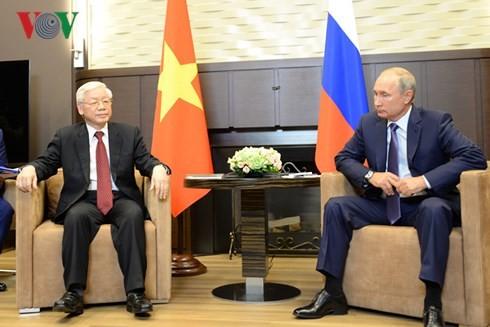 Совместное заявление по итогам официального визита генсека ЦК Компартии Вьетнама в РФ - ảnh 1