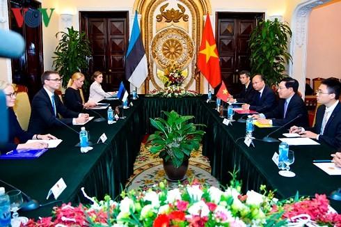 Вице-премьер, глава МИД Вьетнама провёл переговоры с министром иностранных дел Эстонии  - ảnh 2