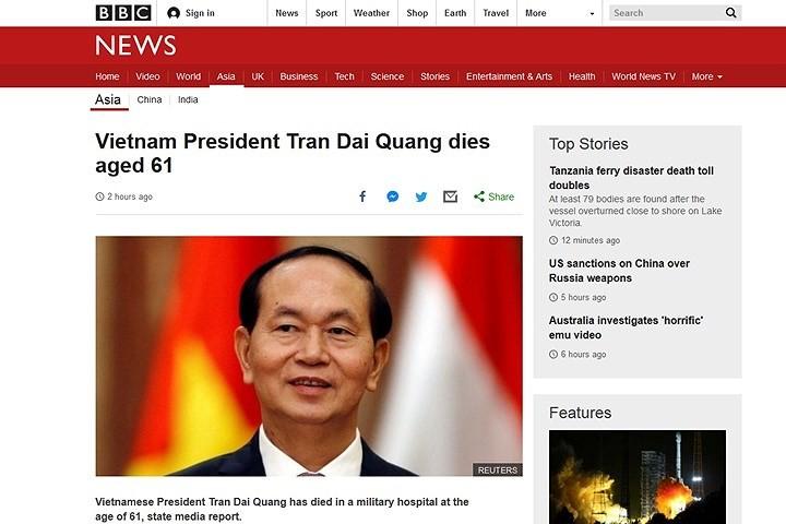 Мировые СМИ освещают смерть президента Вьетнама Чан Дай Куанга - ảnh 2