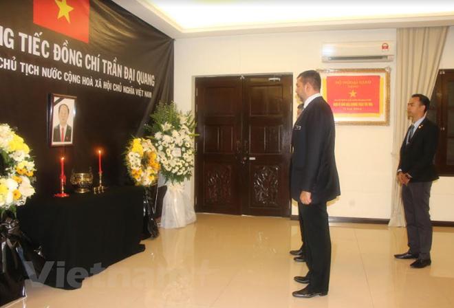 Посольства Вьетнама в Венесуэле и Малайзии провели церемонию прощания с президентом Чан Дай Куангом - ảnh 1