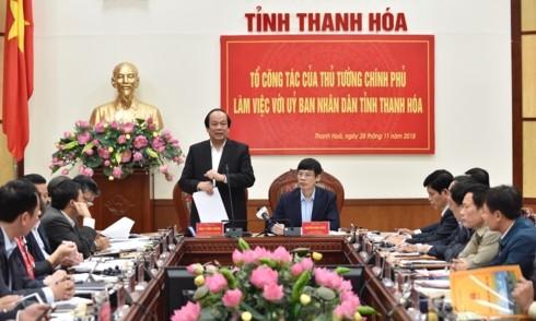 Рабочая группа премьера Вьетнама провела встречу с Народным комитетом провинции Тханьхоа - ảnh 1