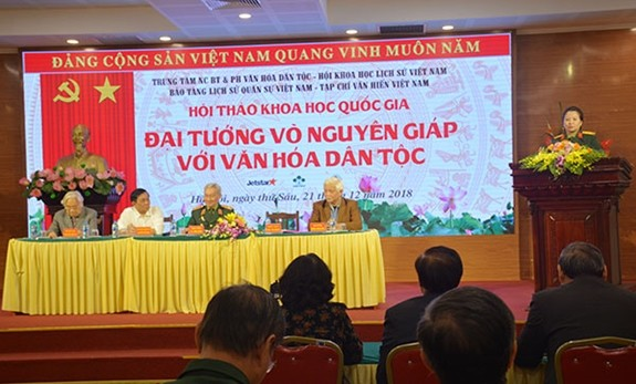 Отмечен вклад генерала армии Во Нгуен Зяпа в культуру Вьетнама - ảnh 1