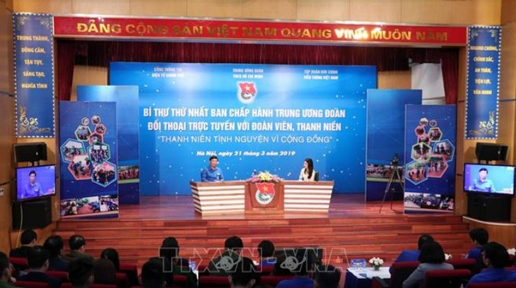 Секретарь ЦК СКМ провёл онлайн-диалог на тему «Молодые добровольцы служат обществу» - ảnh 1
