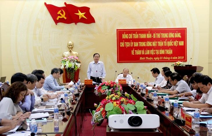 Глава ОФВ Чан Тхань Ман провел рабочее совещание с руководством провинции Биньтхуан - ảnh 1