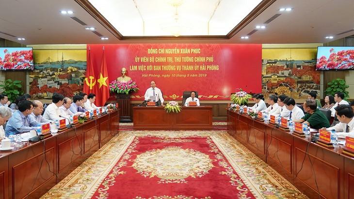 Нгуен Суан Фук провел рабочую встречу с руководством города Хайфона - ảnh 1