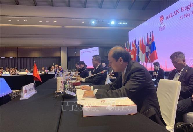 Вьетнам принял участие в совещании старших должностных лиц стран-участниц АРФ - ảnh 1