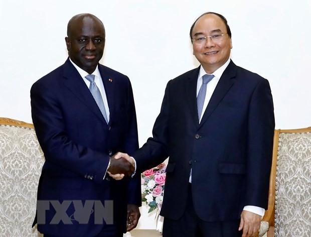 Премьер Вьетнама принял главу МИД Республики Кот-д'Ивуар - ảnh 1
