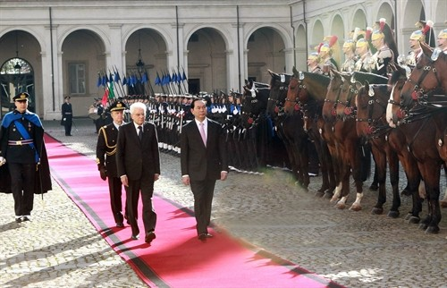 Trân Dai Quang entame sa visite en Italie - ảnh 1