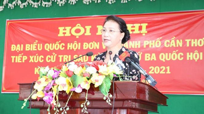 La présidente de l'Assemblée nationale rencontre l'électorat de Cân Tho - ảnh 1