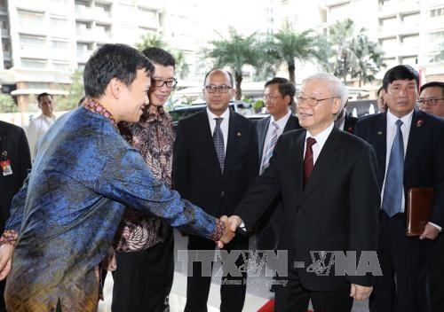 Nguyen Phu Trong : la coopération économique avec l'Indonésie progressera - ảnh 1