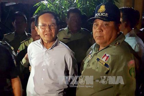 """Cambodge: le chef de l'opposition mis en examen pour """"espionnage"""" - ảnh 1"""