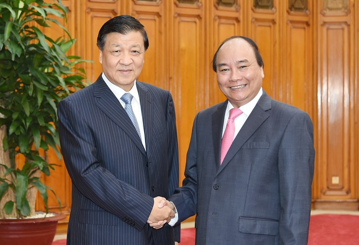 Nguyen Xuan Phuc reçoit Liu Yunshan - ảnh 1