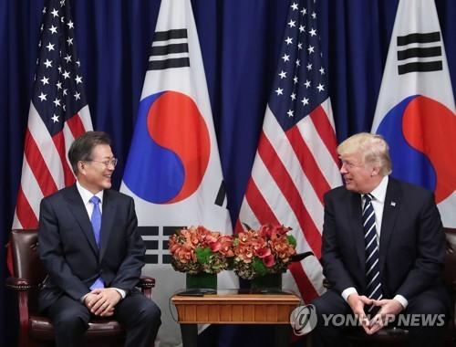 Moon et Trump s'entendent pour accroître la dissuasion militaire et la pression sur la RPDC - ảnh 1