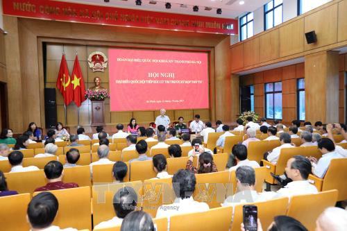 Nguyen Phu Trong rencontre l'électorat hanoien - ảnh 1