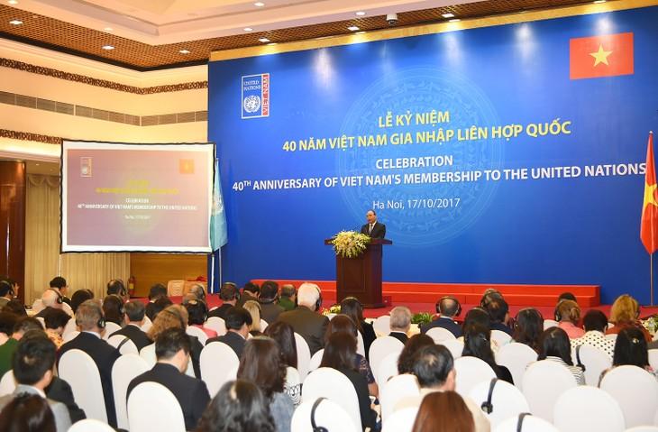 Nguyen Xuan Phuc à la cérémonie célébrant les 40 ans de l'adhésion du Vietnam à l'ONU - ảnh 1