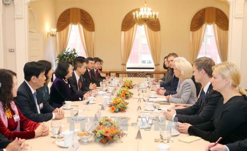 Déplacement de la vice-présidente vietnamienne en Lettonie - ảnh 1
