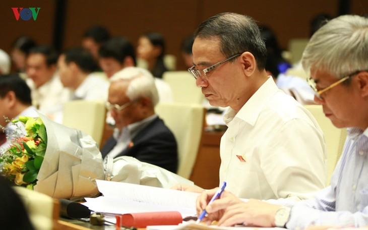 L'Assemblée nationale discute du projet d'amendement de la loi sur les organisations de crédit - ảnh 1