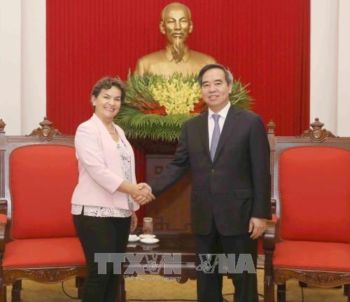 Christiana Figueres, référente mondiale en termes de changement climatique au Vietnam - ảnh 1