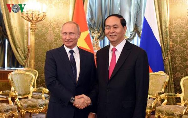 APEC 2017: rencontre Tran Dai Quang-Vladimir Poutine à Danang - ảnh 1
