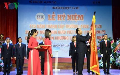 Tran Dai Quang au 115ème anniversaire de la faculté de médecine de Hanoï - ảnh 1