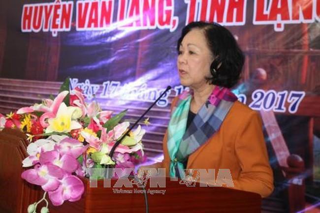 Truong Thi Mai à une fête de grande union nationale à Lang Son - ảnh 1
