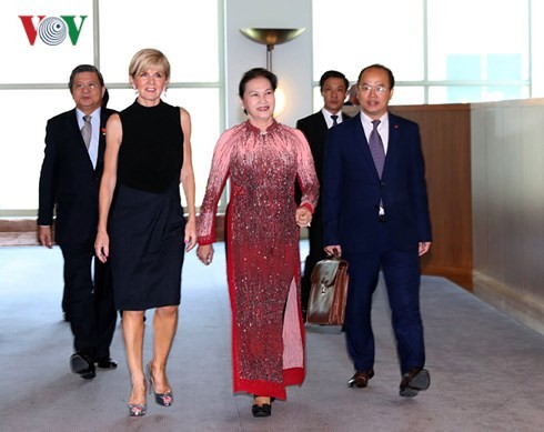 Nguyen Thi Kim Ngan rencontre la ministre australienne des Affaires étrangères - ảnh 1