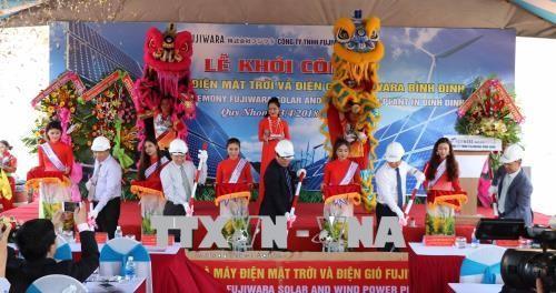 Lancement d'un projet éolien-solaire de 100 MW à Binh Dinh  - ảnh 1