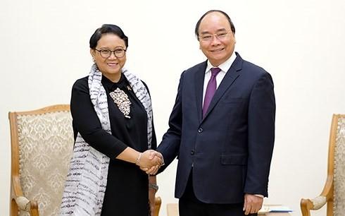 Nguyên Xuân Phuc reçoit la ministre indonésienne des Affaires étrangères - ảnh 1