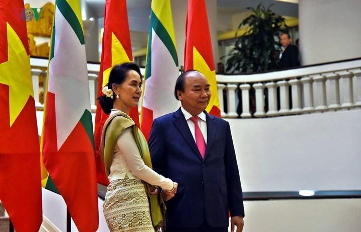 Entretien Nguyên Xuân Phuc-Aung San Suu Kyi - ảnh 1