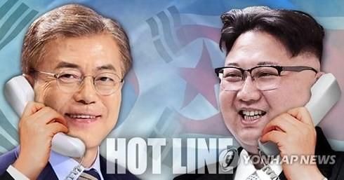 Les deux Corées désormais reliées par un téléphone rouge - ảnh 1