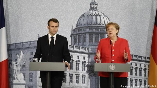 Macron et Merkel affichent leurs différences sur la zone euro  - ảnh 1