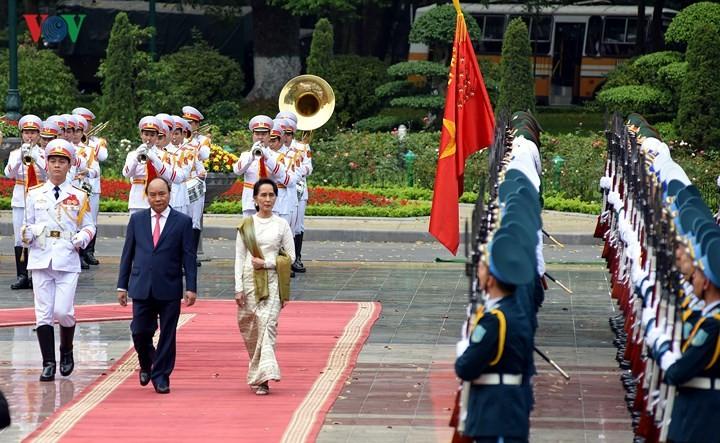 Déclaration commune Vietnam-Myanmar - ảnh 1