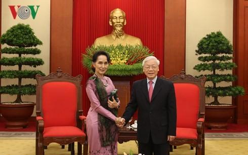 Nguyên Phu Trong accueille Aung San Suu Kyi - ảnh 1