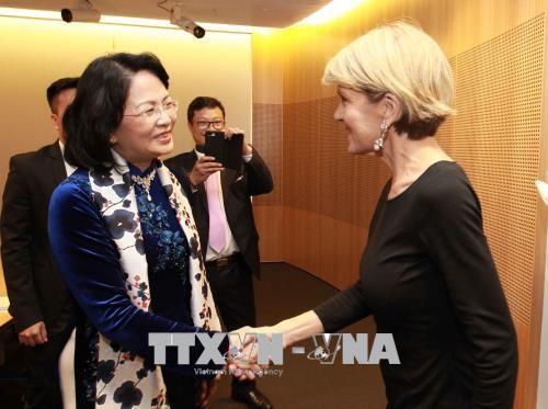 La cheffe de la diplomatie australienne recue par Dang Thi Ngoc Thinh - ảnh 1