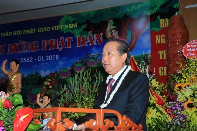 Le 2562e anniversaire de la naissance de Bouddha célébré au Vietnam - ảnh 1