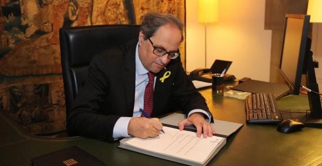 Quim Torra forme un gouvernement catalan sans prisonniers ni exilés - ảnh 1